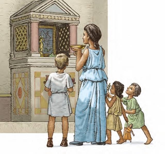 Лары покровители дома семьи общины