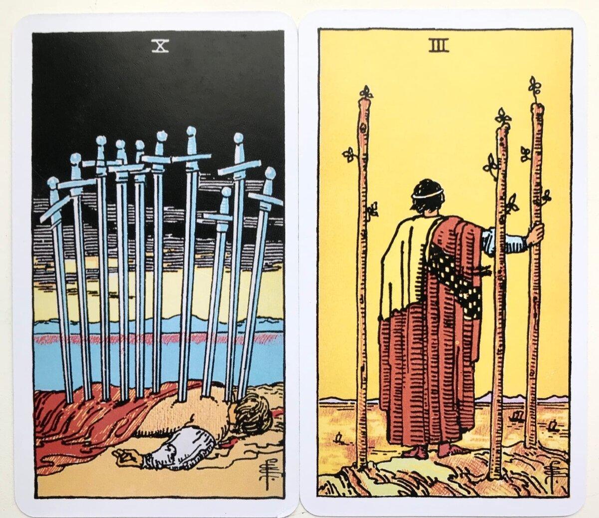 3 мечей (тройка клинков) таро уэйта: значение в отношениях, работе