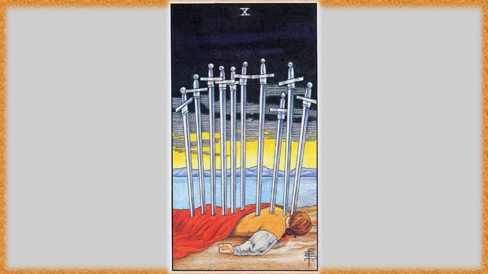 10 мечей таро тота: общее значение и описание карты