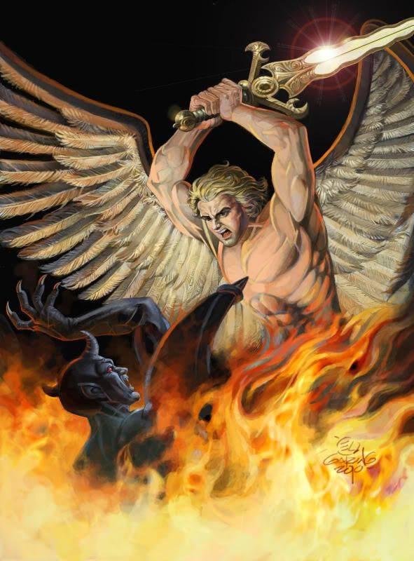 Архангел люцифер и его братья михаил и гавриил   мир магии