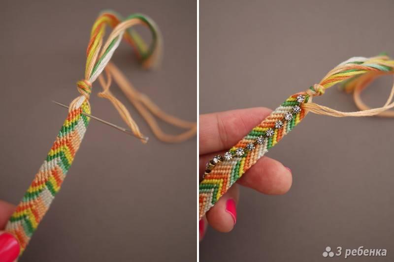 Плетение фенечек из ниток мулине по схемам для начинающих