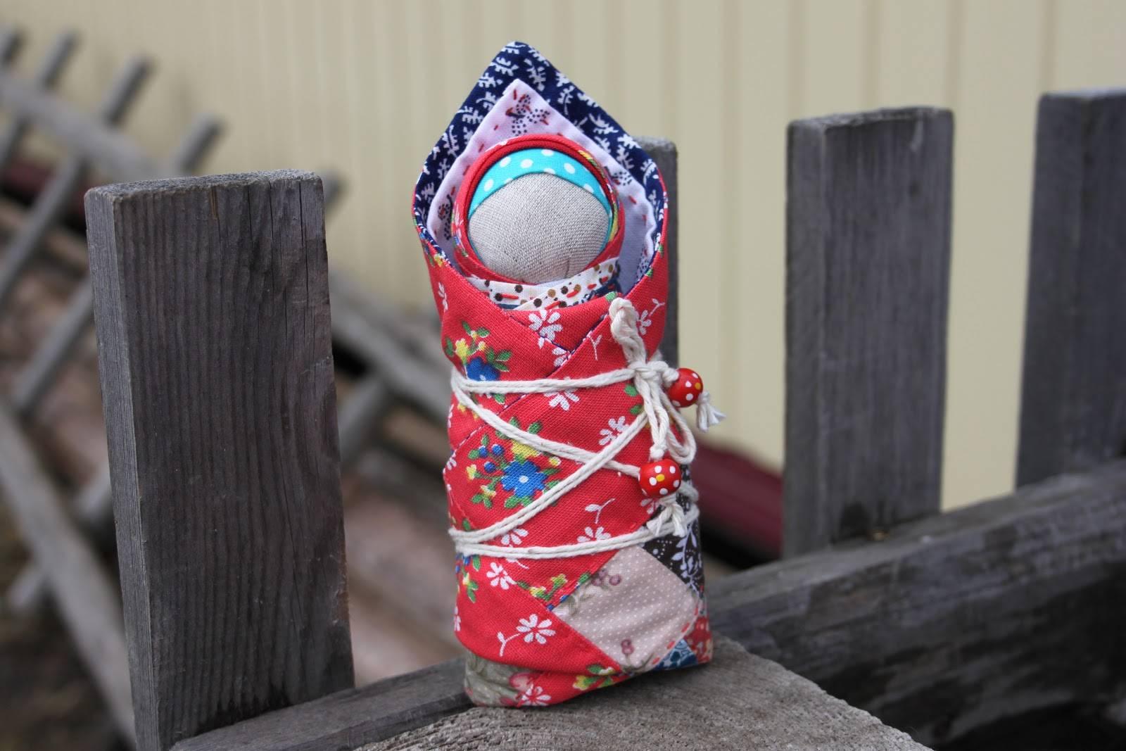 Кукла оберег своими руками для детей из ткани и лоскутов: пошаговое фото для начинающих