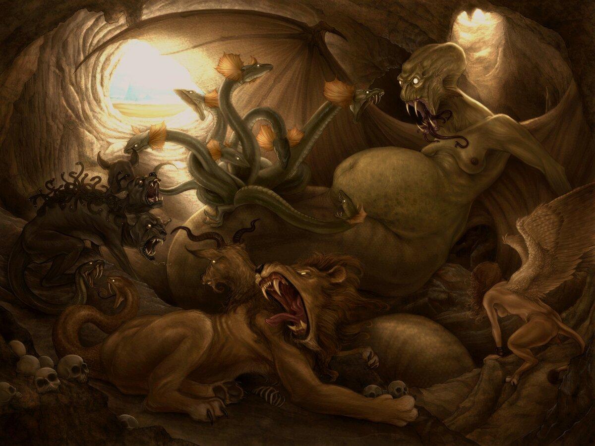 Тифон — все о древнегреческом монстре, его жене и их отпрысках