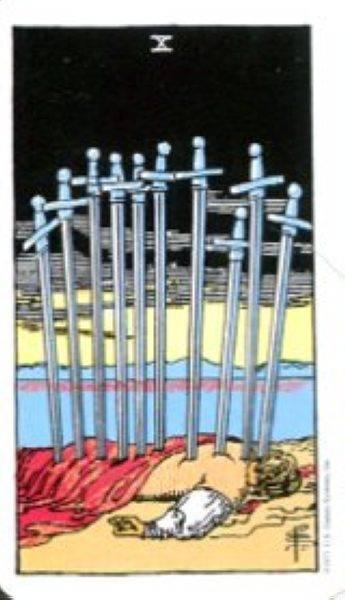 5 мечей таро тота: общее значение и описание карты
