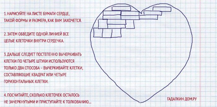 Правила гадания на сердечках