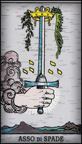 Карта таро туз мечей — значение, толкование и расклады в гадании