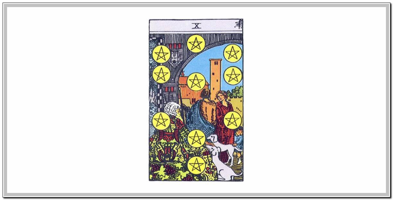 10 пентаклей таро 78 дверей: общее значение и описание карты