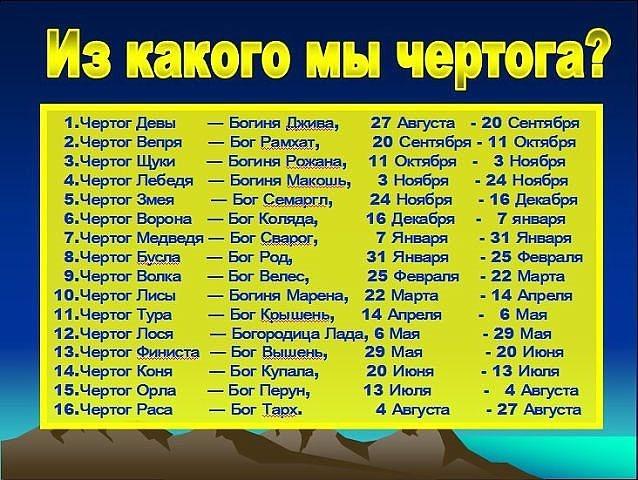 Как узнать славянскую дату рождения?