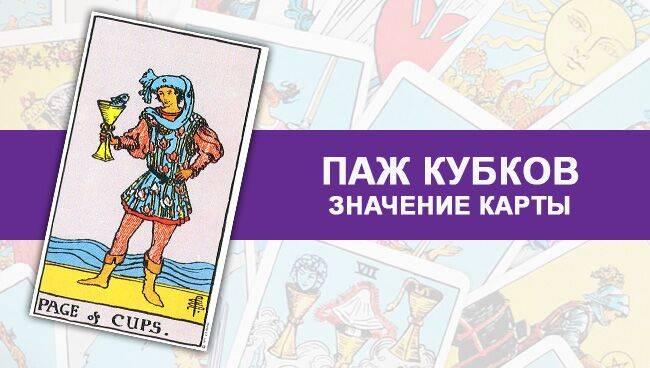 Паж Кубков — значение и толкование карты