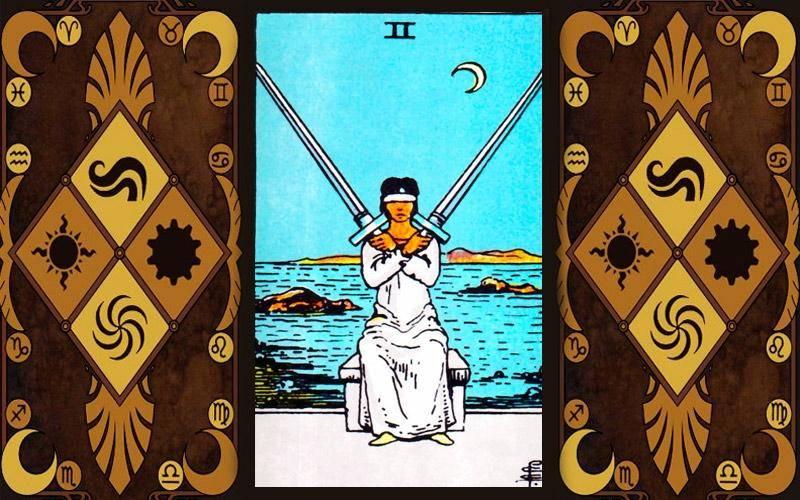 2 мечей (двойка клинков) таро уэйта: значение в отношениях, работе