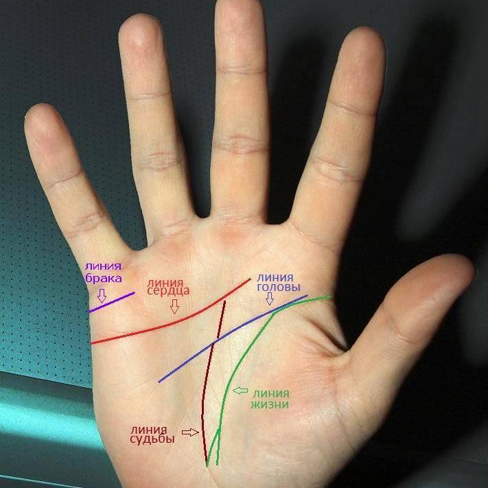 Линия судьбы на руке - фото с расшифровкой