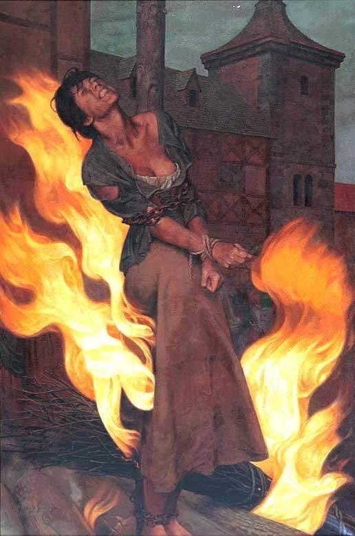Сжигали ведьму на костре…