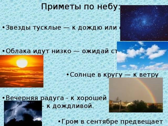 Какие приметы предсказывают погоду