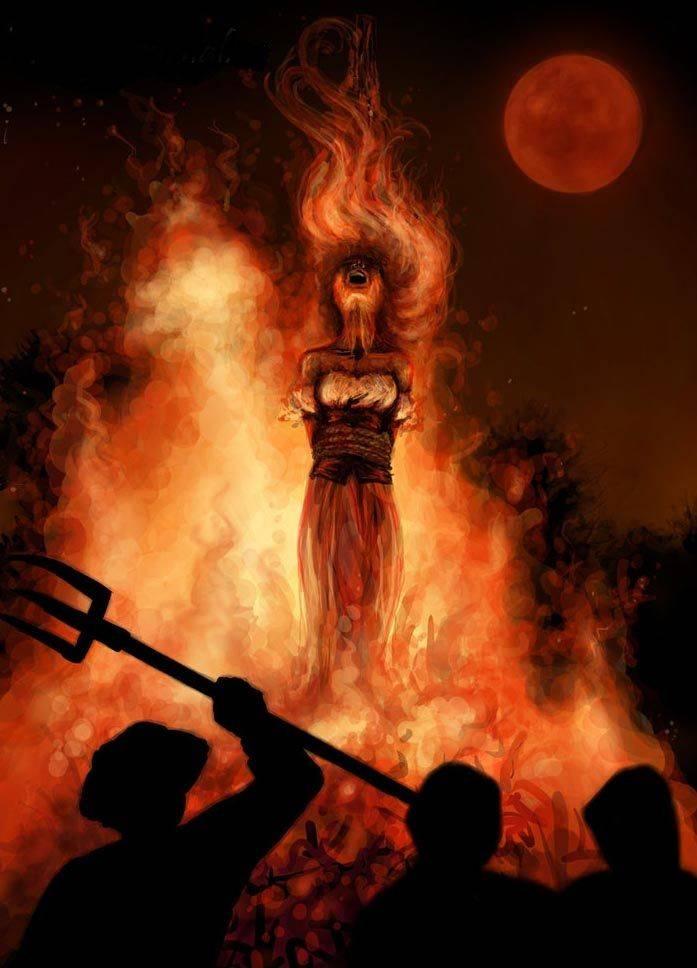 За что и каких ведьм сжигали на костре в древние века