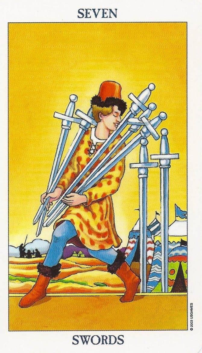 Семерка мечей в картах таро: важные особенности