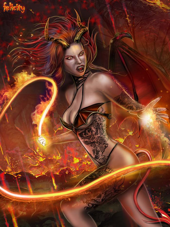 Касикандриэра - королева ада, демоница и жена люцифера