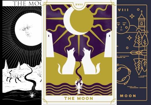 Аркан таро луна — значение карты в любви и отношениях; сочетание с другими картами колоды