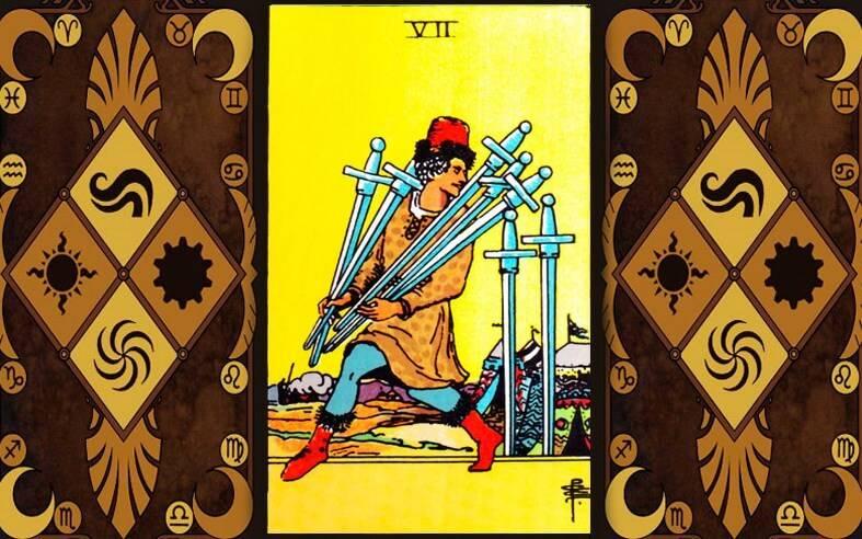 Значение карты таро — 6 (шестёрка) мечей