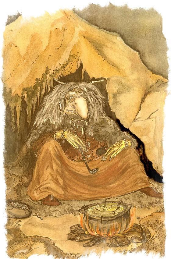 Трау — ночные фейри, живущие внутри холмов