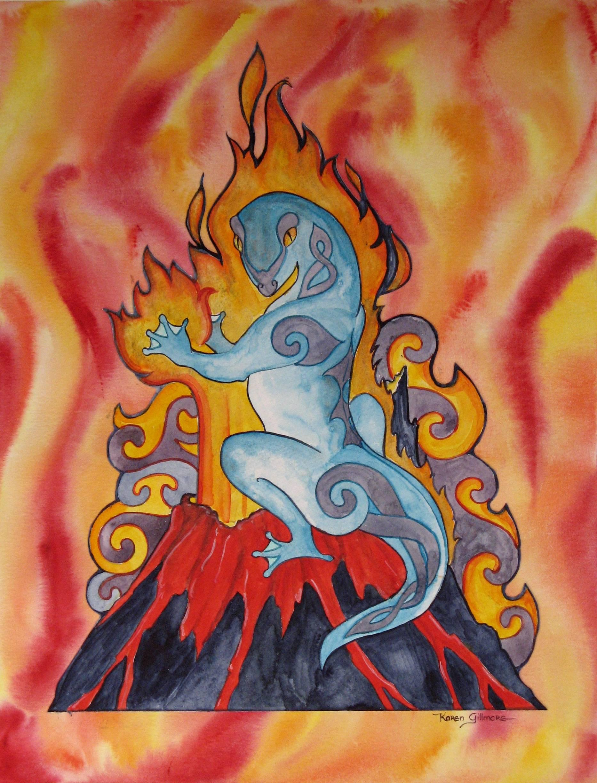 Саламандра - мифическая огненная ящерица