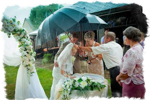 Приметы дождя на свадьбу, день рождения
