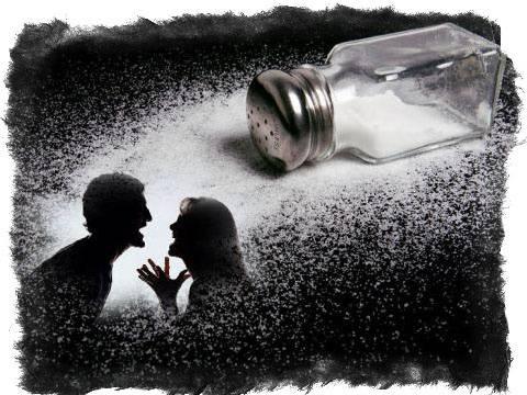 Рассорка на соль, перец - читать заговоры в домашних условиях