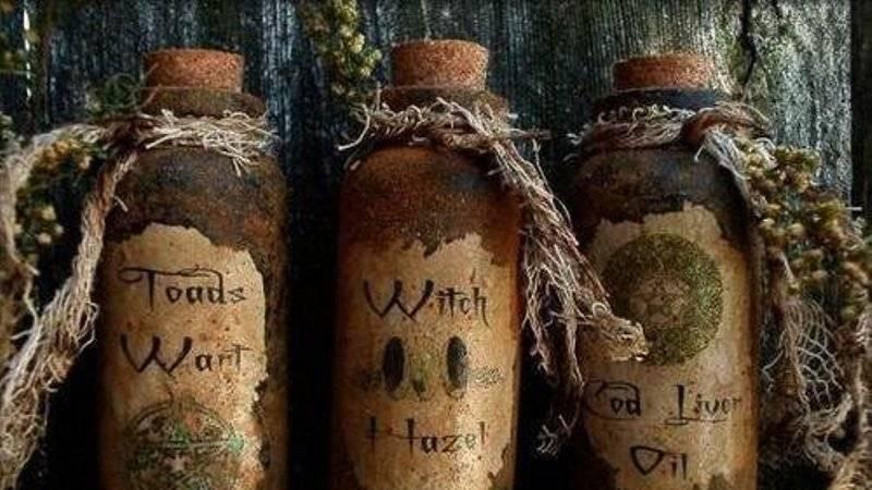 Ведьмина бутылка защита от порчи изготовление