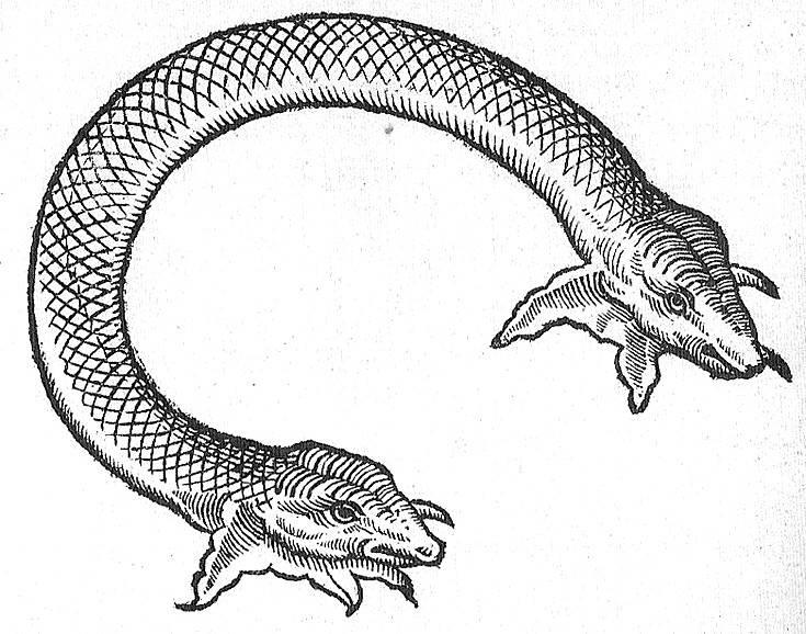 Амфисбена — двуглавая змея из древнегреческих мифов
