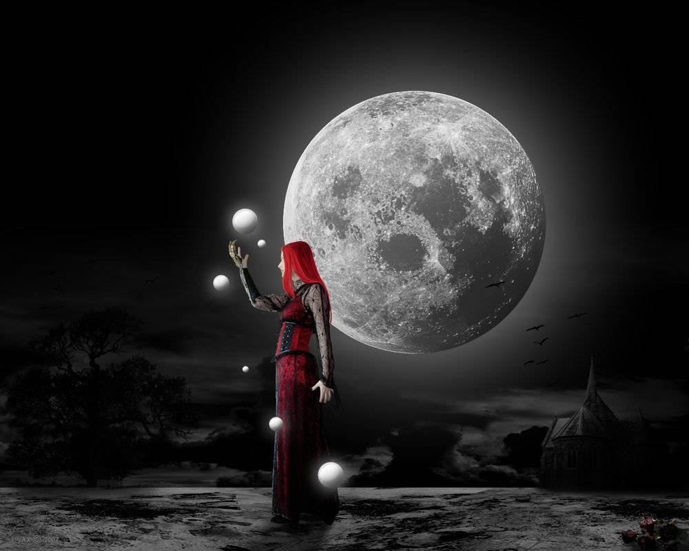 Отворот на убывающую луну и растущую