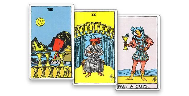 8 (восьмерка) кубков (чаш) таро: значение в отношениях, любви