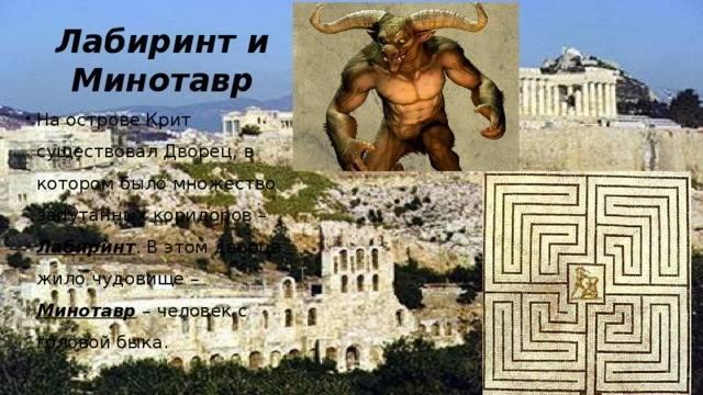 Минотавр — чудовище из критского лабиринта