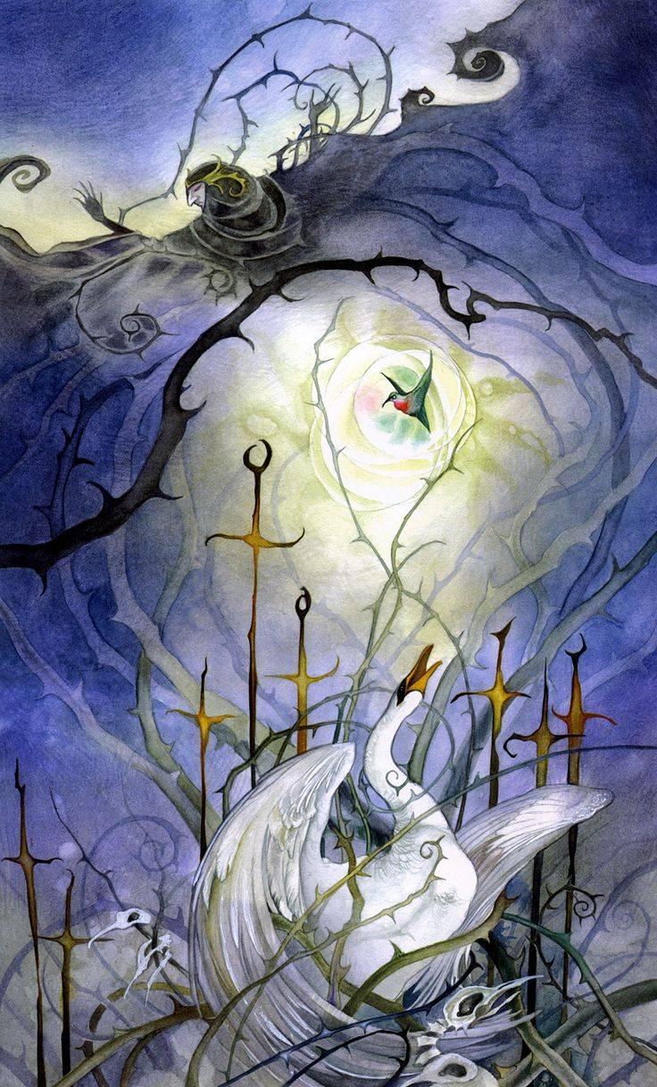 "Туз пентаклей - колода ""таро долины миражей (shadowscapes tarot)"" - дом таро"