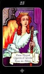 Королева жезлов таро (дама посохов) - значение и толкование карты