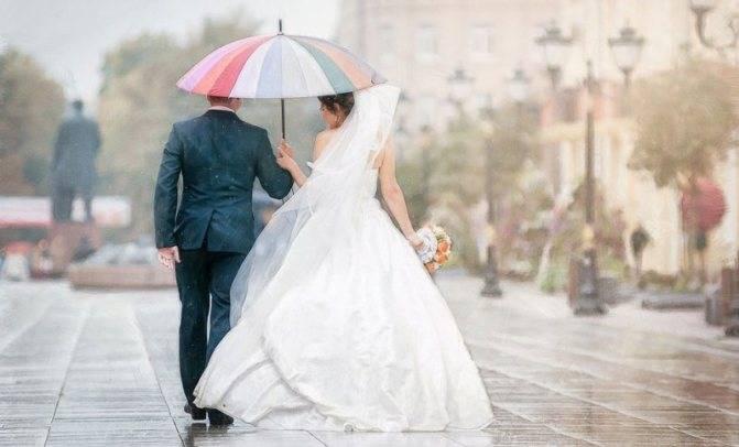 Дождь на свадьбу: народная примета