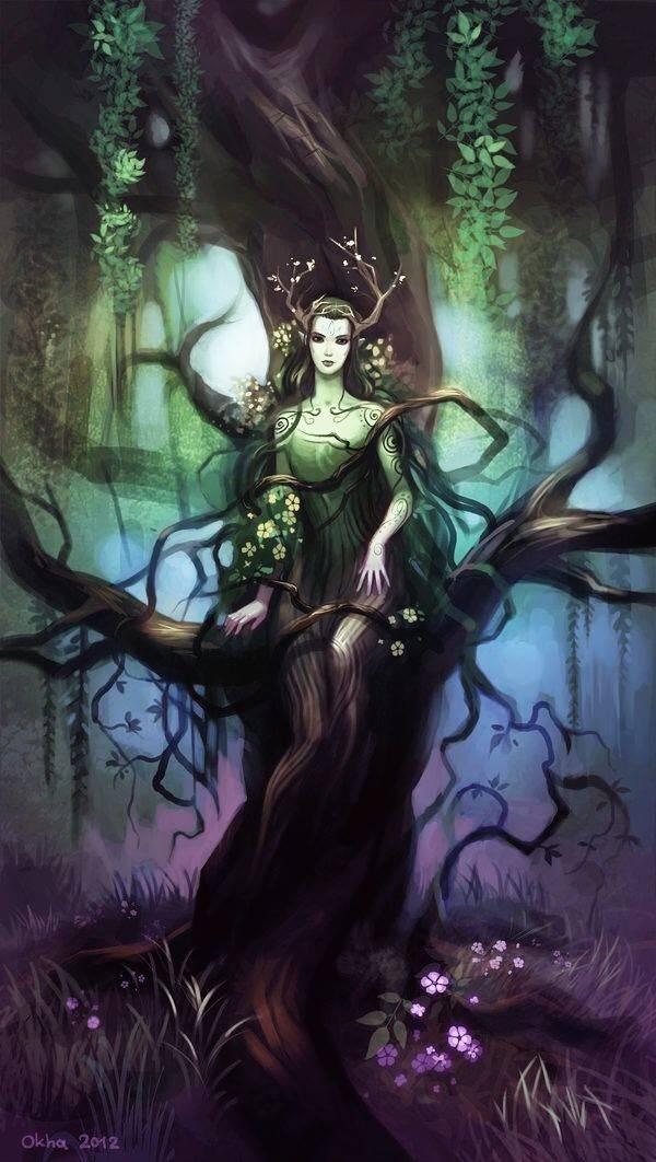 Дриады — обитательницы священных рощ и лесов