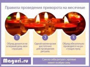 Снимаем привороты на менструальной крови, наложенные вами или соперницей