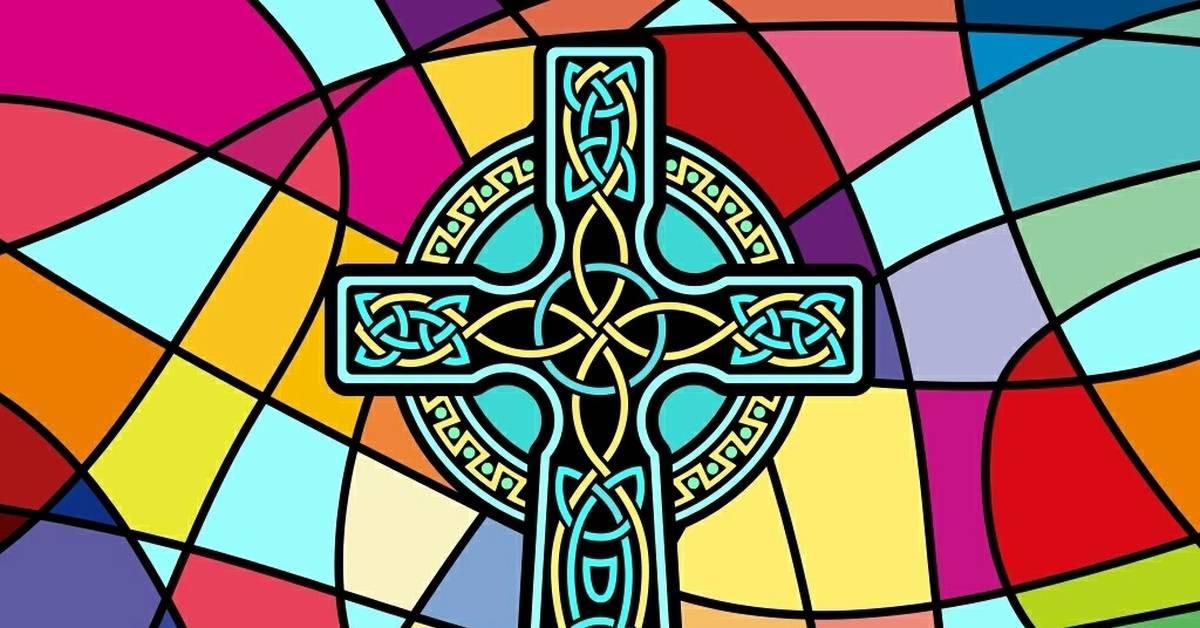 Кельтский крест из звезд